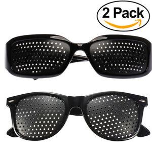 2 x Rasterbrille Gitterbrille Augentraining Sehkorrektur Pinhole Loch Brille