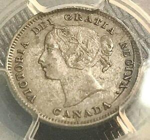 1900 Canada 5c PCGS AU53 Original Beauty, Scratch-Free Holder Estate Buys CHN