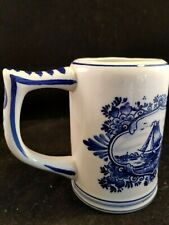 vintage Elesva Holland Delft design beer mug