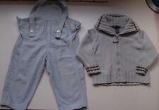 Lote niño: peto pantalón de pana y chaqueta azul. Talla 18 meses.
