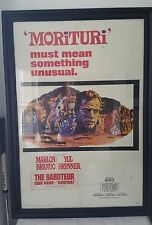 "The Saboteur Morituri Vintage Original Movie Poster 1965 size 27""x40"""