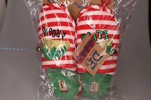 New DF DEARFOAMS Womens Christmas Elf Scuff SLIPPERS Size Medium 7-8