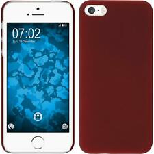 Hardcase Apple iPhone 5 / 5s / SE rubberized red Cover + protective foils