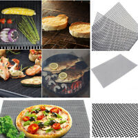 BBQ Grill Mesh Mat Teflon Reusable Sheet Resistant Non-Stick Barbecue Meat Tools