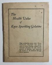 Vintage Knox Sparkling Gelatin Recipe Booklet Brochure Johnstown NY 1924