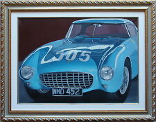 MARIA G. PERI olio tela 50x70 FERRARI + catalogo con marco lodola warhol andy