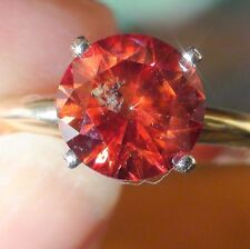 RARE! 2,06 ct NATURAL RED DIAMOND 14K SOLID YELLOW GOLD VINTAGE RING.