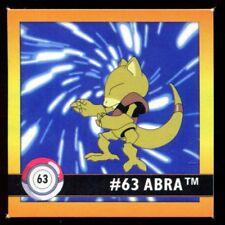 POKEMON STICKER ENGLISH CARD 50X50 1998 NORMAL N°   63 ABRA