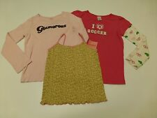 3 Gymboree Girls Size 8-10 Pink T Shirt & Cami Tank Lot Great Condition & New