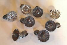 8 Piece Antique Victorian Christmas Tree Clip on Candle Holders Tin Metal