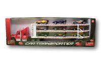 Car Transporter Bisarca Auto Ferrari multicolore Auto Corsa Race Cars [E036]