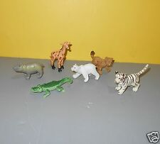 "Safari Ltd lot of Mini 2"" Animal Figures - Polar Bear - Cheetah Cub - Schelich"