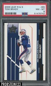 2006 Leaf R & S #65 Tom Brady New England Patriots PSA 8 NM-MT