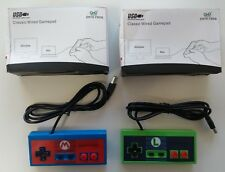 2 x dati Frog NES Super Nintendo Controller USB-Mario e Luigi Designs NUOVO