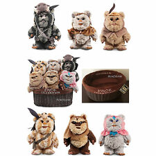 "2015 9"" Star Wars Ewok Celebration Limited Edition 6 Plush W/Basket Disney Store"