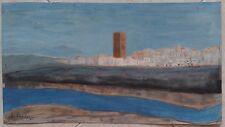 """Art du XXème, contemporain : peinture : gouache sur carton type """"Canson"""" :"""