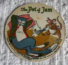 VINTAGE 33 1/3 RPM CARDBOARD RECORD -1955 - POT OF JAM, FISHERMAN & THE GENIE