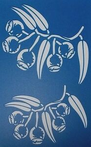 Scrapbooking - STENCILS TEMPLATES MASKS SHEET - Gum Nuts Stencil