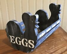 wooden basket Farmhouse Egg Basket