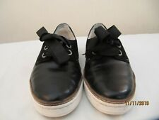 UGG Shoes UK 6  6.5 Black  leather suede Narrow Fitting  slip on oxford lace up