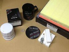 GENUINE MG ROVER 75 ZT SERVICE KIT SPARK PLUGS AIR + OIL FILTER FREE COFFEE MUG