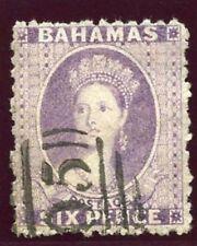 Bahamas 1863 QV 6d lilac very fine used. SG 30. Sc 14c.