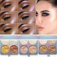 Professional Contour Makeup Face Powder Eyeshadow Highlighter Palette 4 Colors