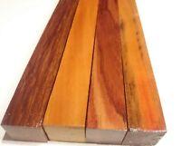 """Wood craft variety Andira, Caretto, Bubinga, Chakte Viga turning blanks 1""""x1""""x12"""