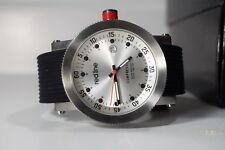 Red Line Compressor Black Silicone Silver-Tone Dial Watch RL-18000-01