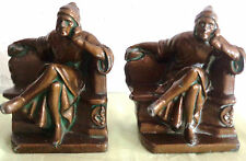 Dante Bookends K and O Kronheim and Oldenbusch Bronze Colored