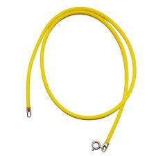Girocollo unisex in caucciù giallo cm 40 con chiusura argento 925 spessore mm 2