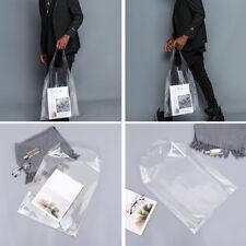 1PC Holographic Totes Shopping Bag Transparent PVC Plastic PU Handbag Clear