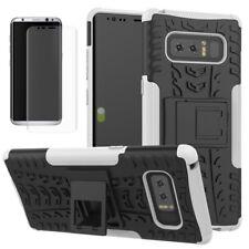 Hibrido Funda Estuche 2 Piezas Blanco para Samsung Galaxy Note 8 N950F+Panzfolie