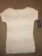 Girls' Cherokee Knit Short Sleeve Shirt With Weave Pattern XL 14/16