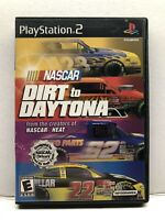 NASCAR: Dirt to Daytona (Sony PlayStation 2, 2002) Complete w/ Manual - Tested