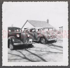 Vintage Car Photo 1938 Plymouth & 1941 Chrysler Automobiles 674765