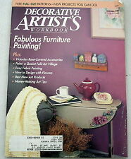 Decorative Artists Workbook Oct 1990 Tole painting patterns instructions