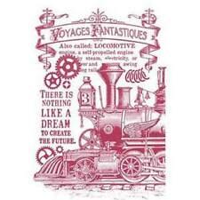 Stamperia A4 Mix Media Stencil – Steam Train KSG430 New
