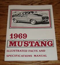 1969 Ford Mustang Illustrated Facts and Specifications Manual Brochure 69