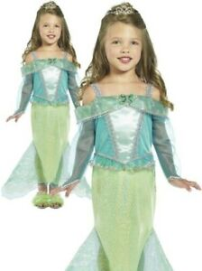 Mermaid Princess Girls Fairytale Book Week Fancy Dress Costume 2-6 Years