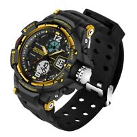Fashion Men's Analog Digital Stainless Steel LED Army Military Sport Wrist Watch