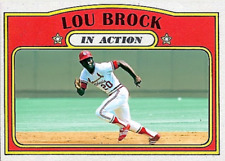 LOU BROCK 72 IN ACTION ACEO ART CARD ## BUY 5 GET 1 FREE # or 30% OFF 12 OR MORE