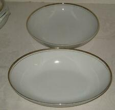 Royalton Golden Elegance Two Vegetable Bowls, Round and Oval