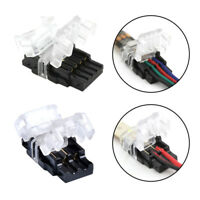 2/4pin LED Connector Connect Wire for 10mm 5050 RGB/Single Waterproof LED Strip