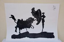 Picasso – Passe de cape Tauromachie Gravure Tirage Offset 2e édition 70X50 cm