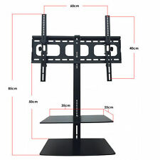 "TV Bracket with Floating Shelves Universal for 32"" - 65"" TV's Curved LED LCD"