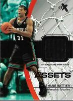 2003-04 E-X Net Assets Game-Used #10 Shane Battier Jersey - NM-MT