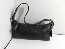 COACH - Black leather shoulder bag