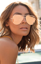 QUAY X Desi Perkins High Key Gold/Gold Mirror Sunglasses NEWT
