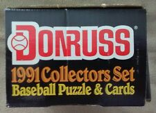 1991 Donruss Baseball Complete COLLECTORS Set (792 cards) w/Studio Preview Cards